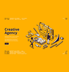 banner for creative agency vector image