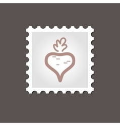 Beet stamp Outline vector image