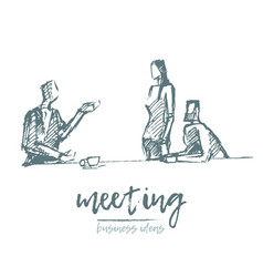 brainstorming business meeting teamwork vector image