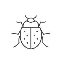 Bug line outline icon or insect concept vector