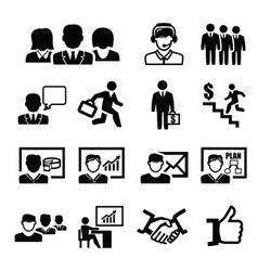 Business persons icons vector