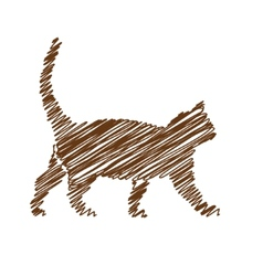 Cat handwriting picture vector