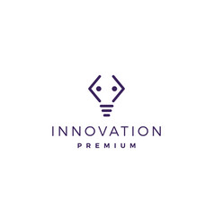 code people bulb idea think creative logo icon vector image