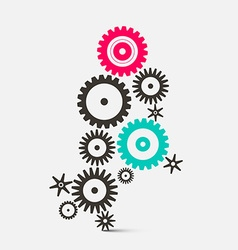Cogs - Gears Technology Icons vector image