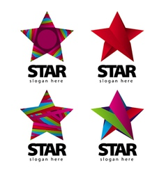 Collection of logo with a star vector