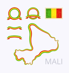 Colors of Mali vector image