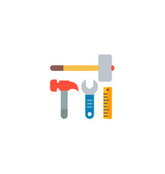 construction tools icon flat element vector image