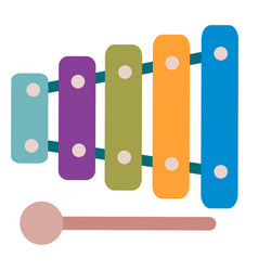 cute xylophone toy for children isolated object vector image