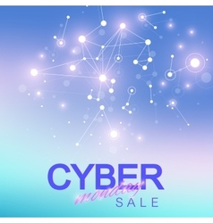 Cyber Monday Sale background Promotional banner vector