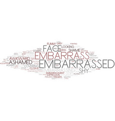Embarrass word cloud concept vector