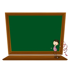 Empty Blackboard vector