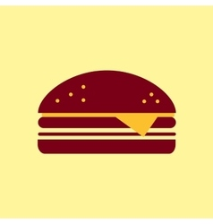 Fast food icon Burger pictogram vector