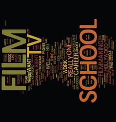 film tv school text background word cloud concept vector image