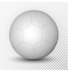 football ball soccer ball mockup on transparent vector image