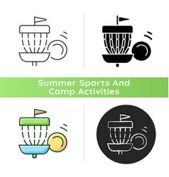 frisbee golf icon vector image