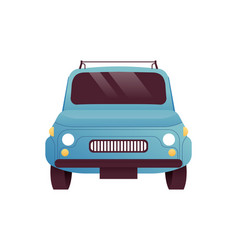 front view old retro car cartoon isolated vector image