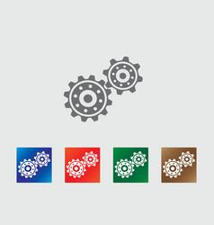 Gear wheels icon vector
