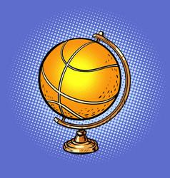globe international basketball ball sports vector image