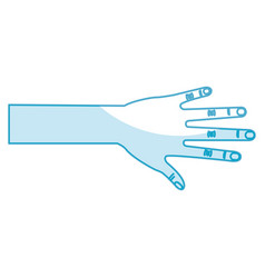 hand human open icon vector image
