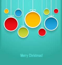 Hanging Christmas balls vector image