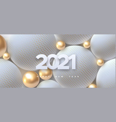 happy new 2021 year vector image
