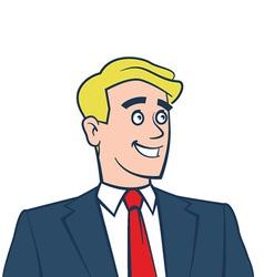 Happy smiling businessman looking away vector image