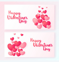 happy valentines day banners with heart vector image