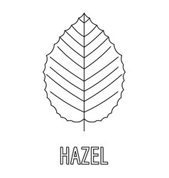 Hazel leaf icon outline style vector