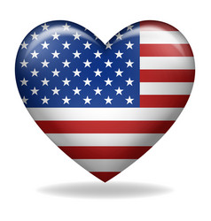 heart shape usa insignia vector image