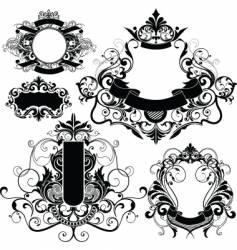 Heraldry graphics vector
