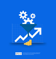 Information data collection filter concept vector