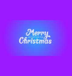 inscription of merry christmas is made of vector image