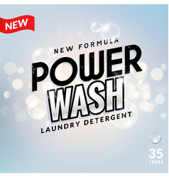 laundry detergent background design clean power vector image