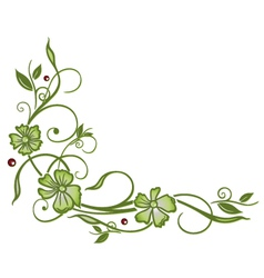 Leaves berries vector
