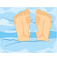 Legs in beds vector