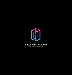 Letter logo h color gradient full color vector