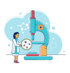 Line laboratory research vector