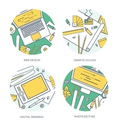 Lined outline graphic web design Drawing and vector image