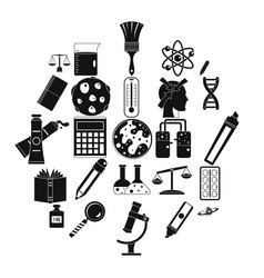 magistracy icons set simple style vector image