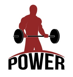 Man Lifting barbell Fitness Icon vector image