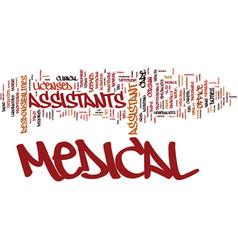 medical assistant text background word cloud vector image