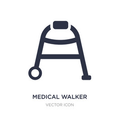 Medical walker icon on white background simple vector