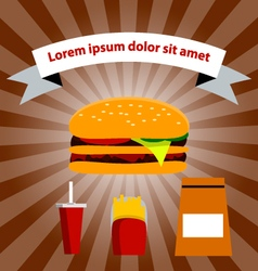 Menu fast food restaurant vector image