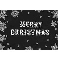Merry Christmas Greeting On blackboard texture vector