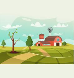 Old farm flat vector