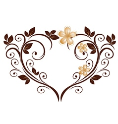 openwork heart vector image