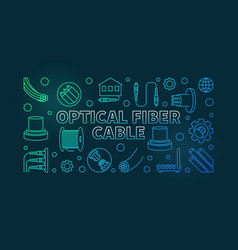 optical fiber cable linear colorful vector image