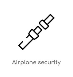 outline airplane security belt icon isolated vector image