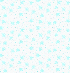 Painted blue snowflakes with dots vector