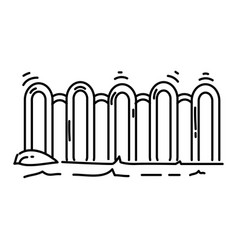 playground kids fencesplayingchildrenkindergarten vector image